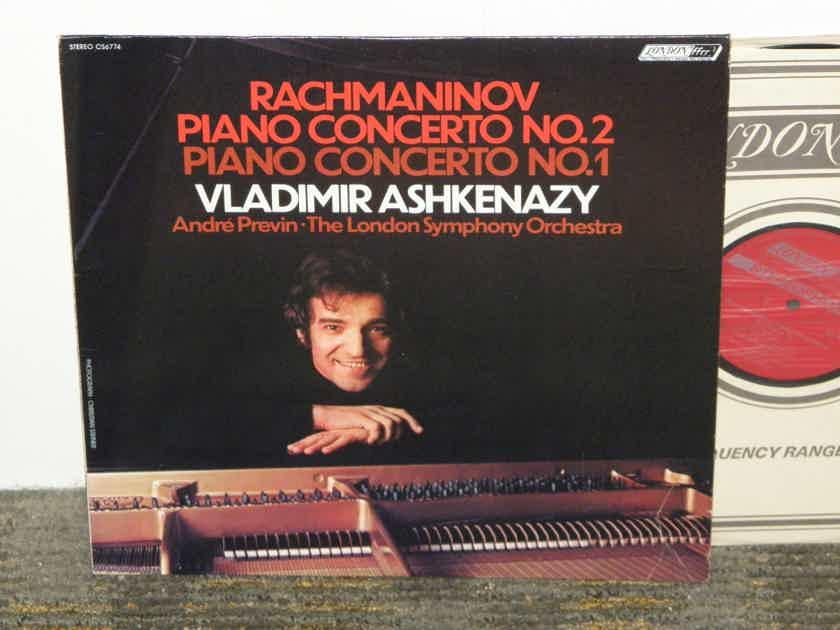Vladimir Ashkenazy - Rachmaninoff Piano Cto No 1 & 2 London CS 6774 UK Decca pressing