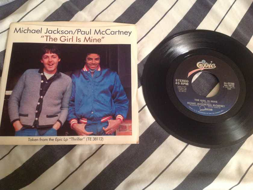 Michael Jackson/Paul McCartney The Girl Is Mine 45 With Picture Sleeve