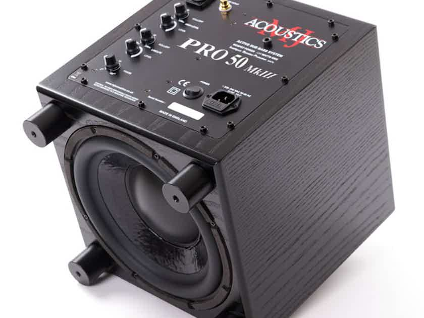 MJ Acoustics Pro 50 - Subwoofers for Music, NEW!