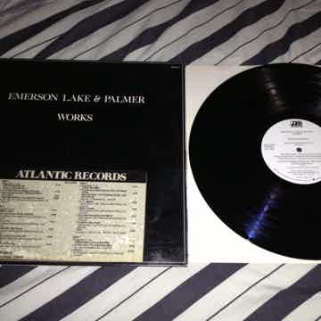 ELP - Works Volume 1 2 LP Promo With DJ Timing Strip Vi...