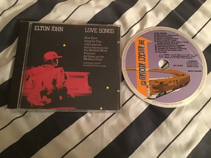 Elton John  Love Songs Rocket Records West Germany Compact Disc