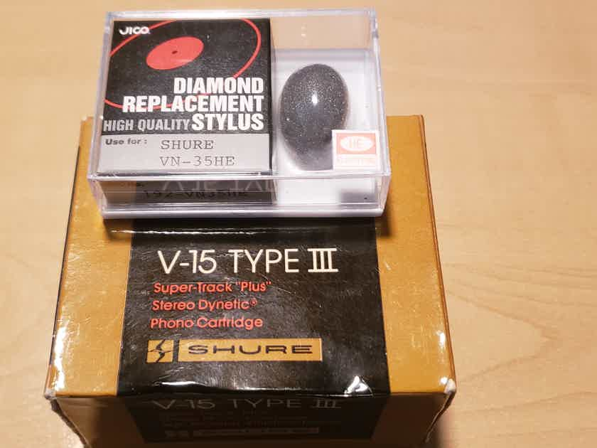 Shure V15 type III NOS tested, otherwise unused