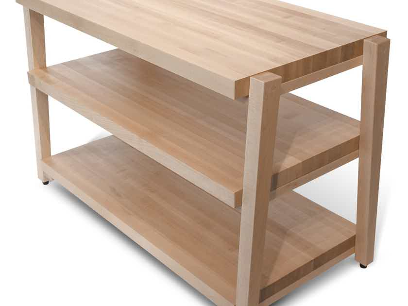 "Butcher Block Acoustics rigidrack® 24"" X 18"" - 3 Shelf - Maple Shelves - Maple Legs"