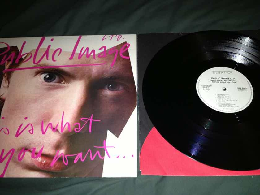 PIL - This Is What You Want This Is What You Get Elektra Records White Label Promo Vinyl LP NM