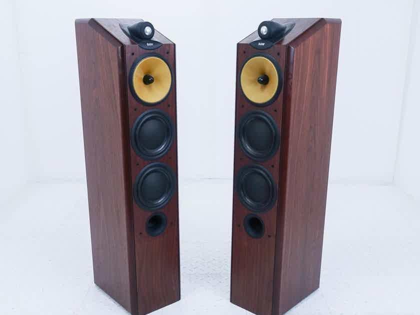 B&W CDM 9NT Floorstanding Speakers; Red Stained Cherrywood Pair (18290)