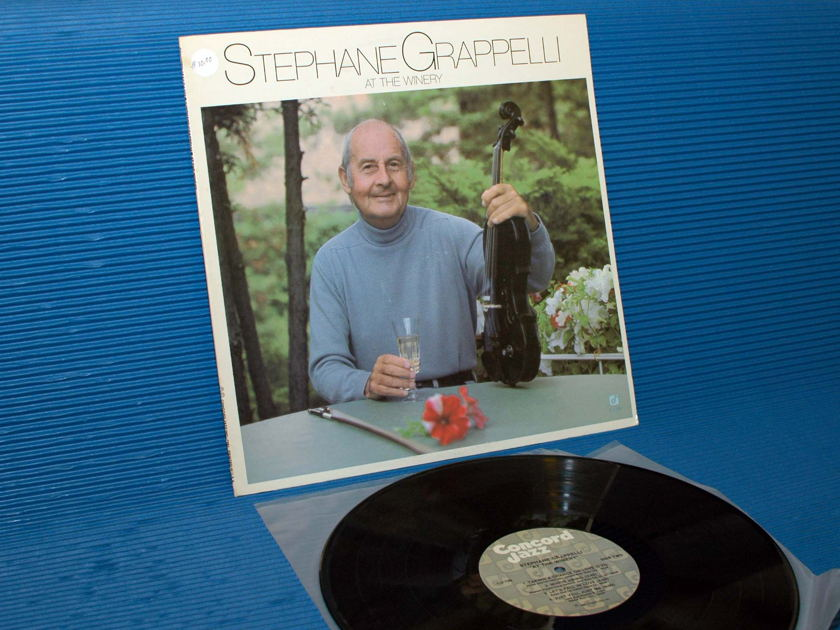 "STEPHANE GRAPPELLI   - ""At the Winery"" -  Concord Jazz 1981"