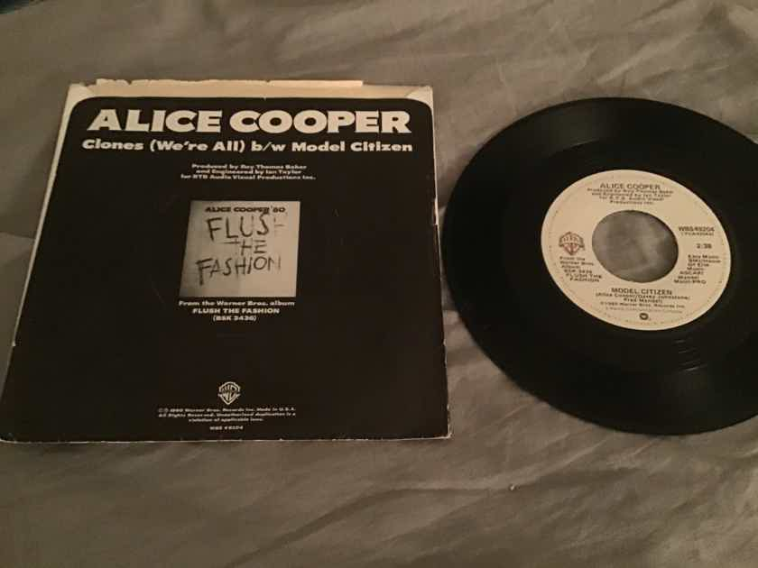 Alice Cooper Clones(We're All) 45 With Picture Sleeve