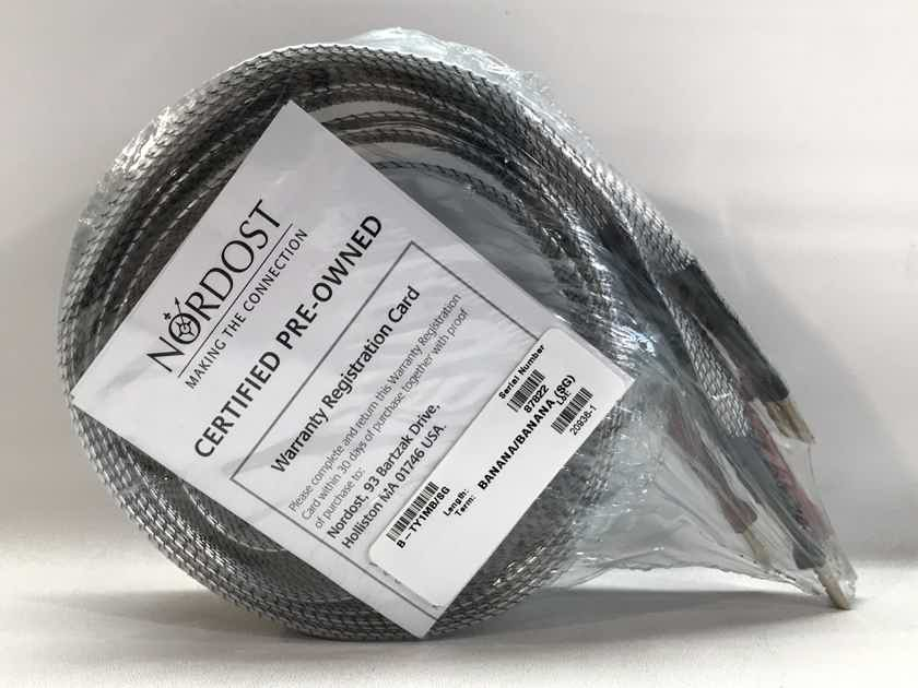 Nordost TYR 1 SPEAKER CABLES, 1.5 METERS, BANANAS, MINT, 1-YR WARRANTY