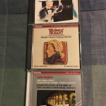 Philips classical classics Beethoven Jochum Mozart  Brandel Salve Regina Gregorian Chant Cd lot of 3 cds