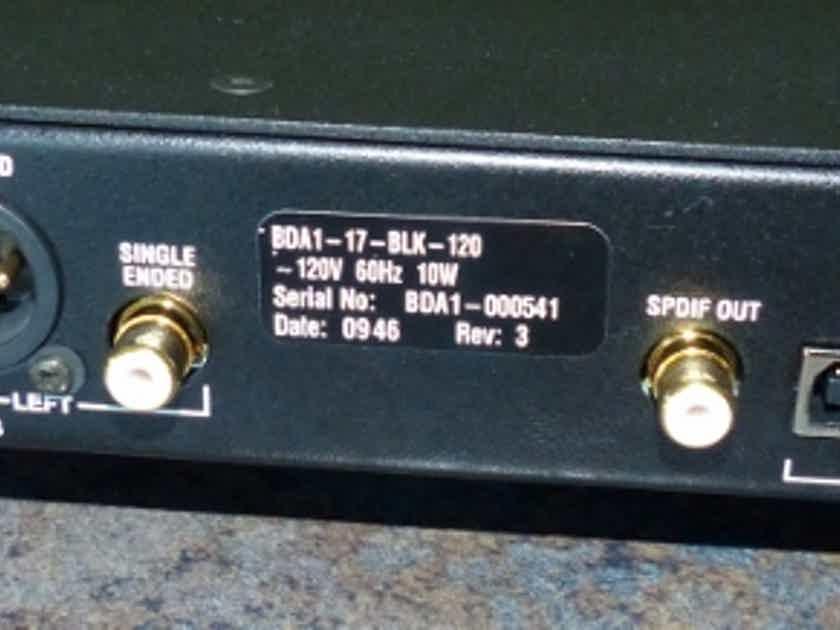 Bryston BDA-1  DAC   Black Face Plate