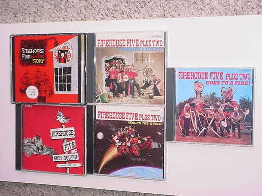 Good time jazz Firehouse Five - cd lot of 5 cd's 1 is 2 cd set