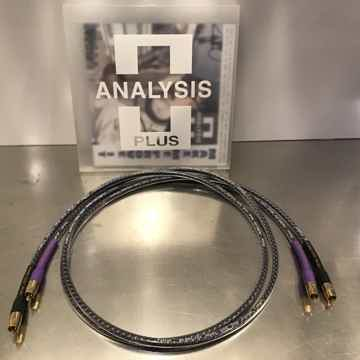 Solo Crystal Oval RCA 1.5 m interconnects