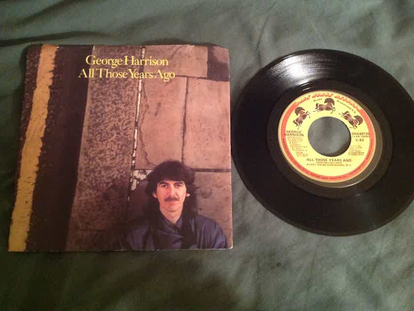 George Harrison  All Those Years Ago 45 With Picture Sleeve Dark Horse Records