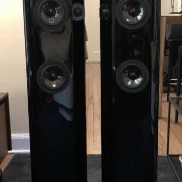 Actual speakers with grilles off (grilles are included)