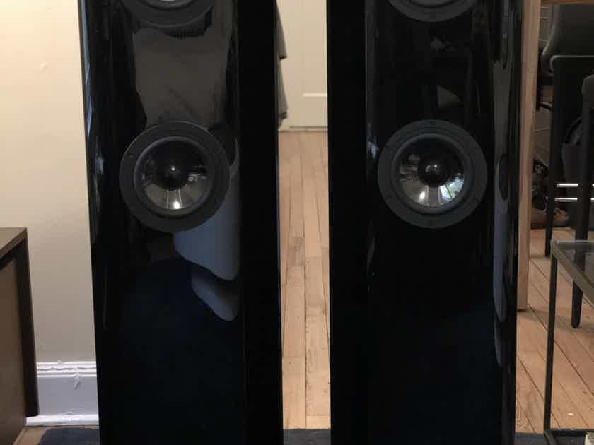 Vienna Acoustics Schonberg Slim Floorstanding Speakers, Gloss Black