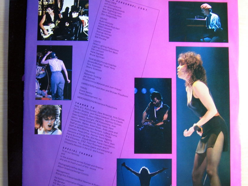 Pat Benatar -  Live From Earth  - 1983  Chrysalis FV 41444