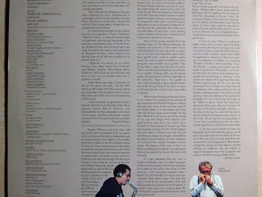 Paquito D'Rivera - Why Not! 1984 EX Vinyl LP Columbia FC 39584