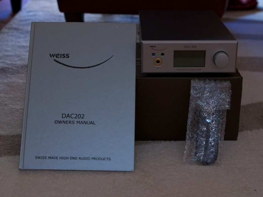 WEISS  DAC202 As New. 230V Bonus Oyaide Firewire cable