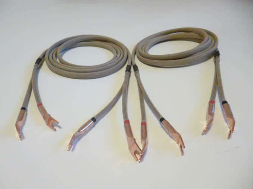 Schmitt Custom Audio 10 AWG Reference 100 Speaker Cables 8ft.2in each, 1 pair.