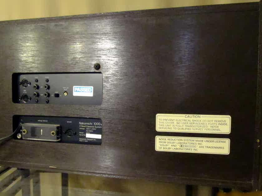 Nakamichi 1000mkII Three Head Tape Machine with remote