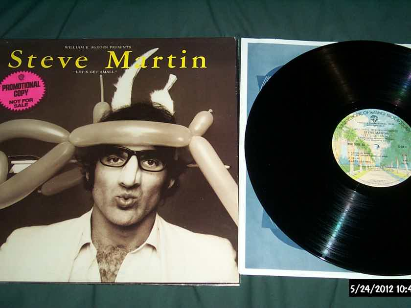 Steve Martin - Let's Get Small Promo Gatefold Cover Pink Promo Sticker  LP NM