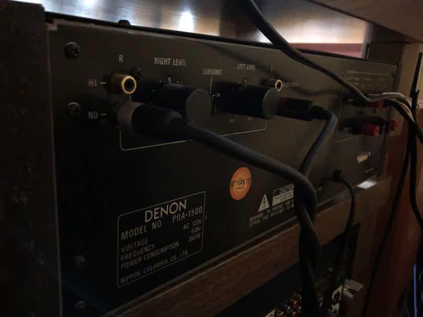 Denon POA-1500 VU Meters