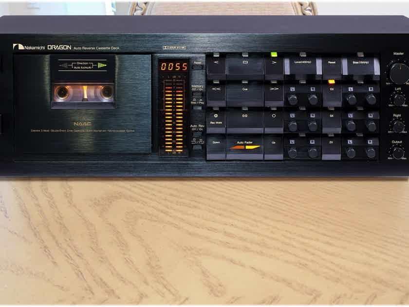 NAKAMICHI DRAGON Audiophile Cassette deck,Willy Hermann Overhauled, Near Mint