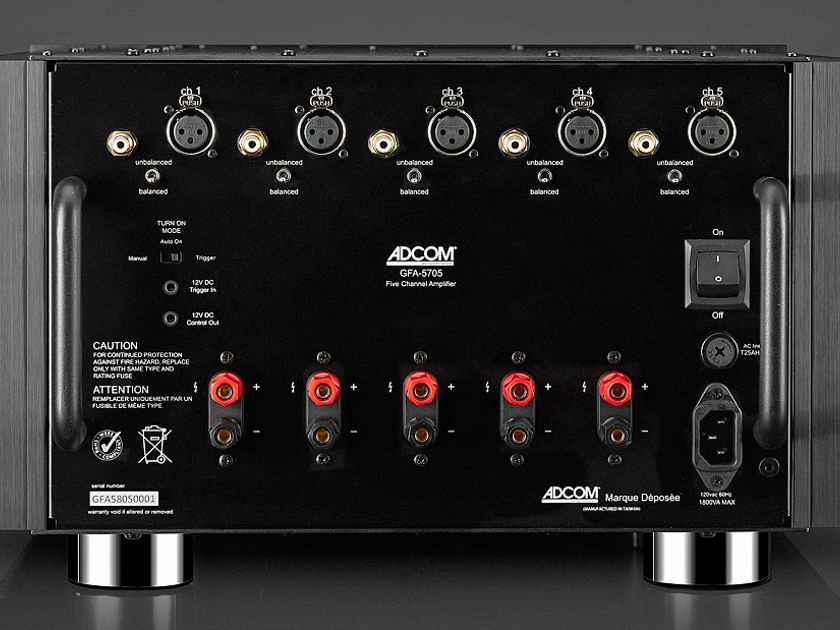 ADCOM GFA-5705, the latest CLASS A/B multichannel amplifier at HIGH-END PALACE
