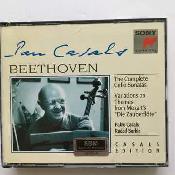 Casals Beethoven Serkin  Complete Cello sonatas Cd set SBM Sony 1993