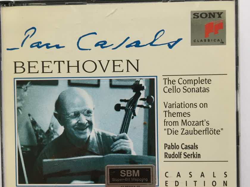 Casals Beethoven Serkin  Complete Cello sonatas Cd set SBM Sony 1993