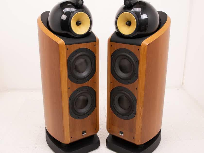 B&W 802D Floorstanding Speakers; Cherry Pair; 802-D (18935)