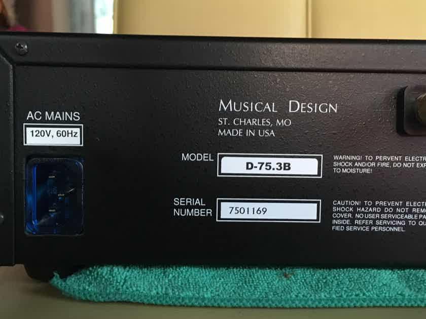 Musical Design D-75.3 B Elite Ultra 6-Series Stereo Amplifier