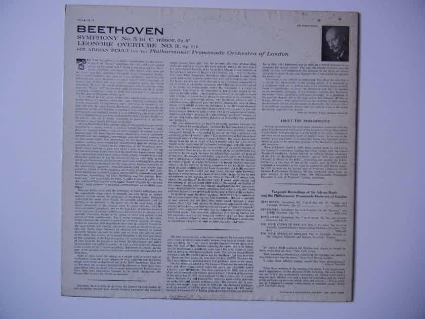 Beethoven - Symphony No. 5-Leonore Overture No. 3 Vanguard VRS-1013