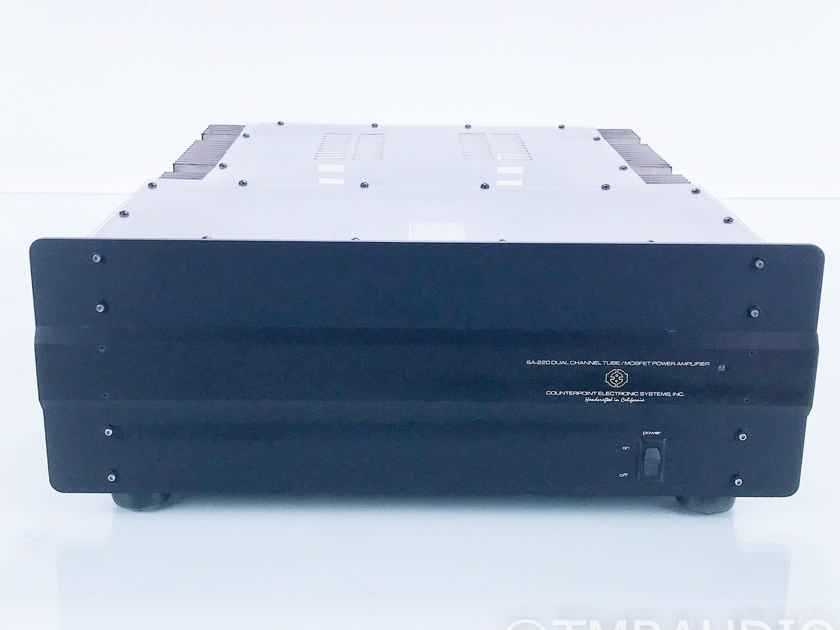 Counterpoint SA-220 Stereo Tube Power Amplifier Acrylic Top; AS-IS (Needs Caps) (16686)