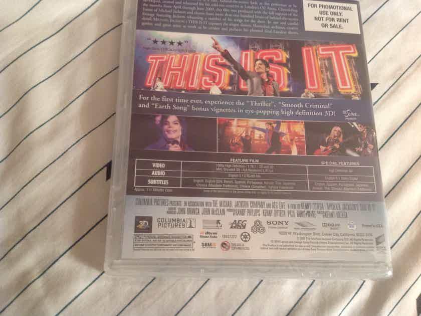 Michael Jackson  This Is It Promo 3D Enhanced Edition Blu Ray