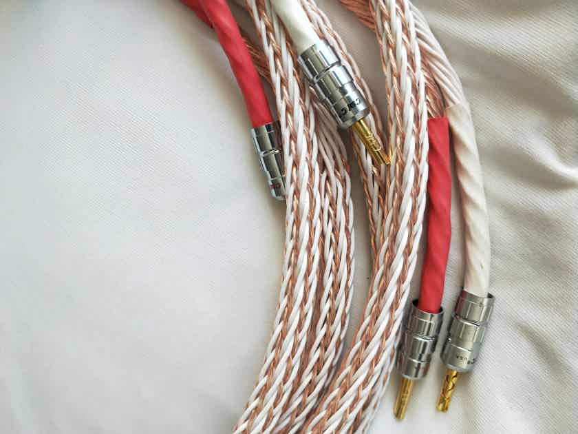 Kimber Cable 12TC  2.5m speaker cable pair with CMC Banana connectors