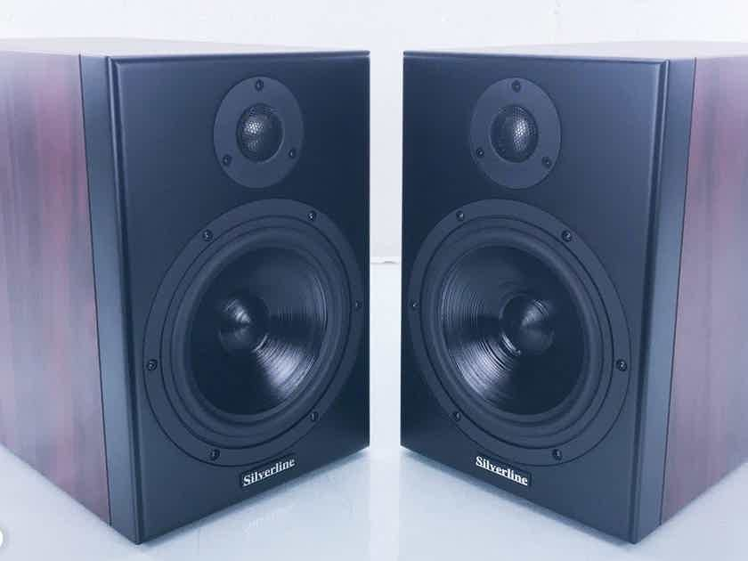 Silverline Minuet Grand Bookshelf Speakers; Rosewood Pair (1/2) (16390)