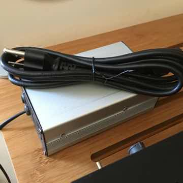 External PSU with Stock AC Cable, Umbilical Cord to the Left