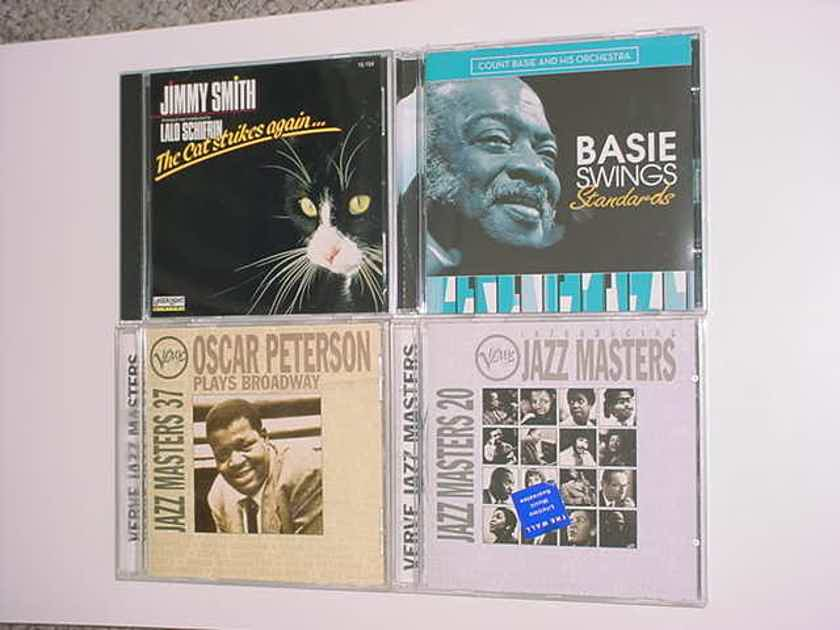 JAZZ CD LOT OF 4 cd's - Basie swings standards Jimmy Smith cat strikes  again JAZZ Masters 20 & 37 Peterson plays broadway