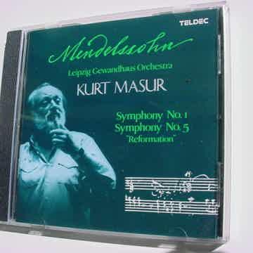 cd teldec Mendelssohn Kurt Masur  symphony no1 no5 reformation LEIPZIG