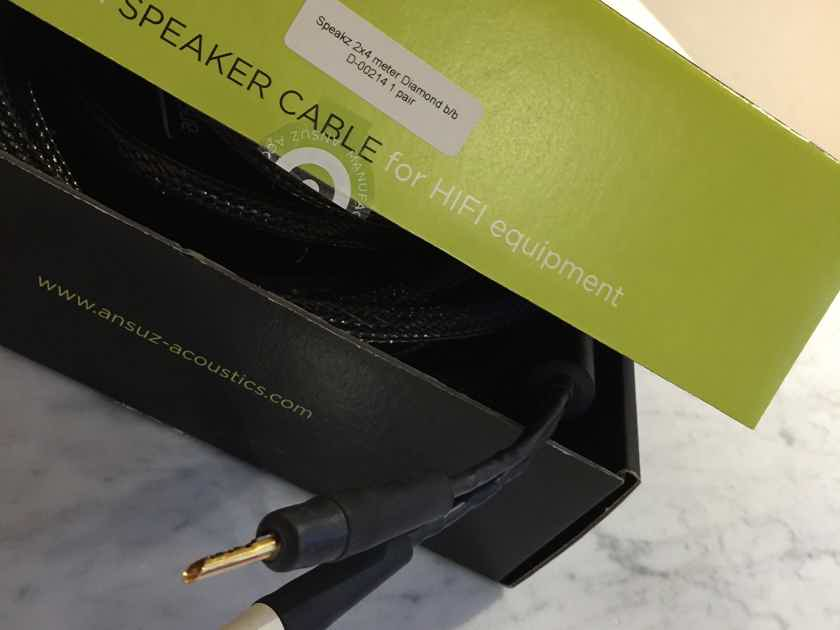 Ansuz Acoustics Speakz Diamond 4.00  meters reference loudspeaker cable