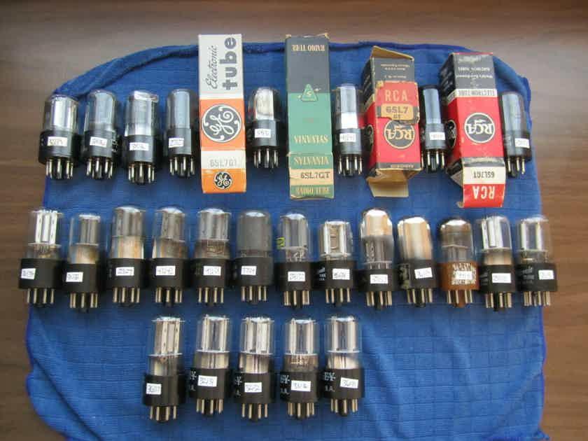 26 tested good 6SL7 tubes