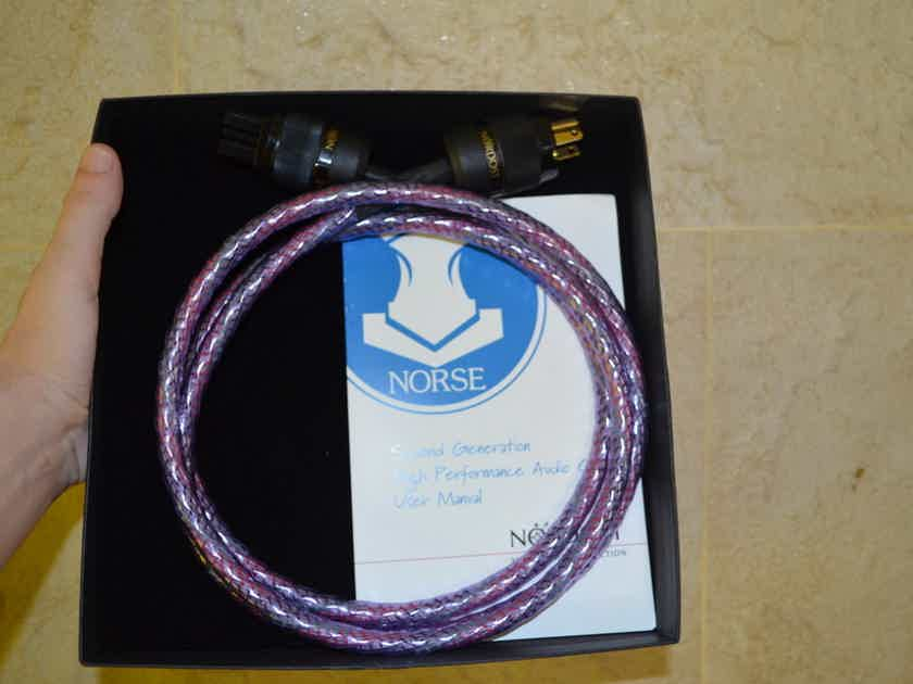 Nordost Frey 2 Norse AC power cord 15A US plug 2M as new condition with box