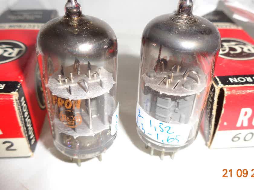 RCA 6072 Pair AudioTubes NOS NIB  12AY7 type made in USA
