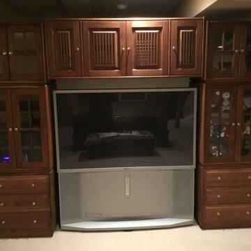 100% Walnut Hardwood Entertainment Center - HUGE SAVING...