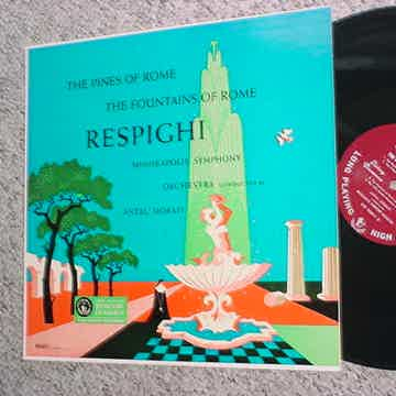 Mercury olympian classics classical lp record Respighi pines fountains of Rome MG50011