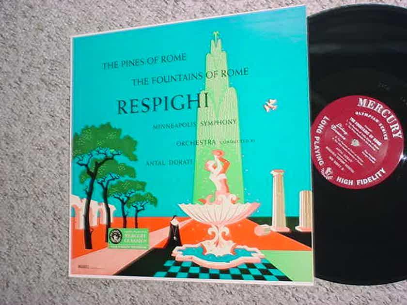 Mercury olympian classics classical lp record Respighi pines fountains of Rome MG50011