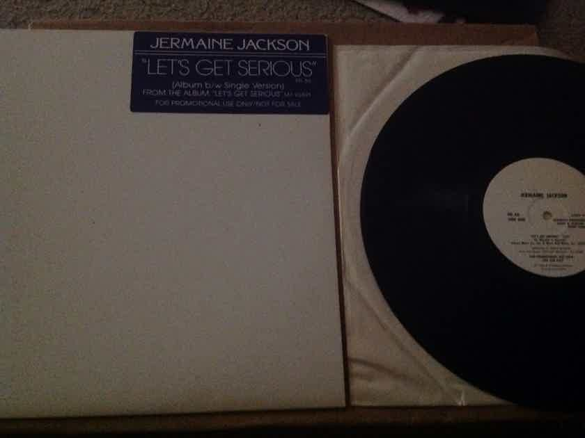 Jermaine Jackson - Let's Get Serious Promo 12 Inch Single Motown Records Vinyl NM
