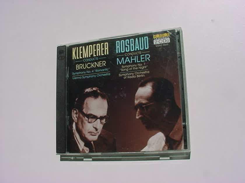 2 cd set Klemperer Bruckner Rosbaud Mahler vox box cdx2 5520 USA 1995