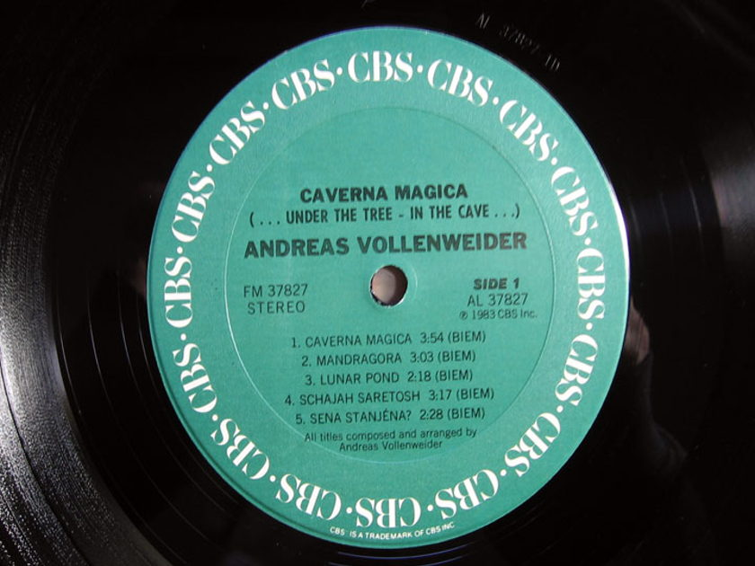 Andreas Vollenweider - Caverna Magica (...Under The Tree - In The Cave... - 1983 CBS FM37827